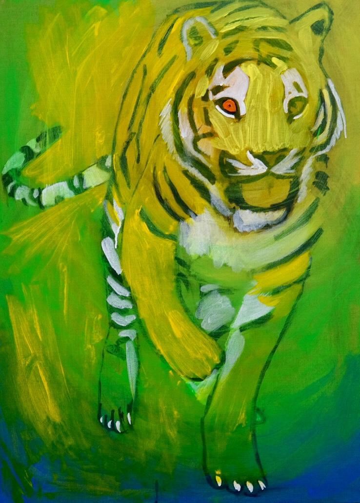 Tiger painting in progress