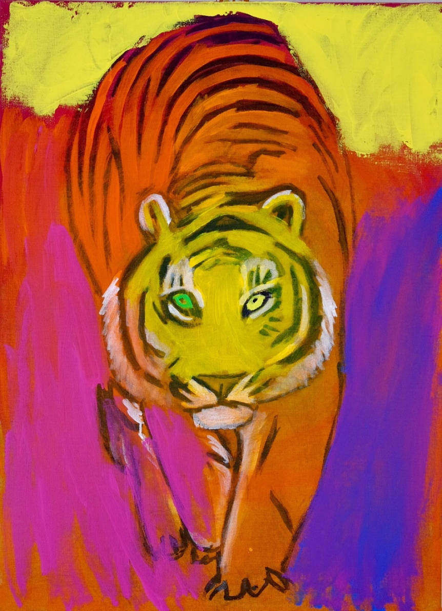(In progress) tiger. 100x73 cm. 2019