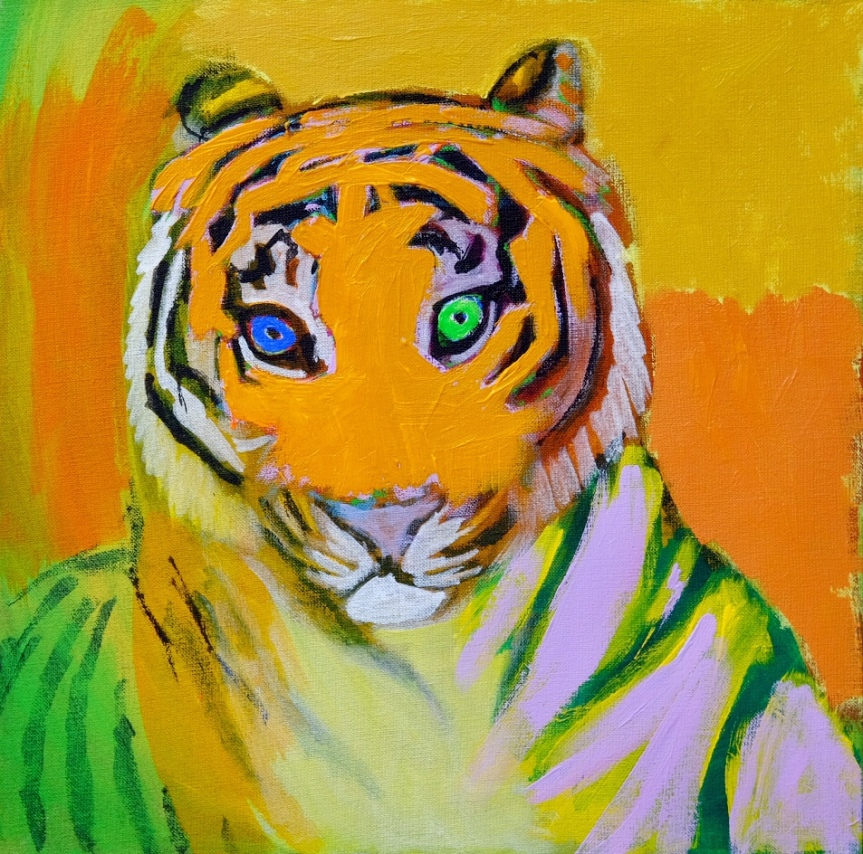 Orange tiger portrait