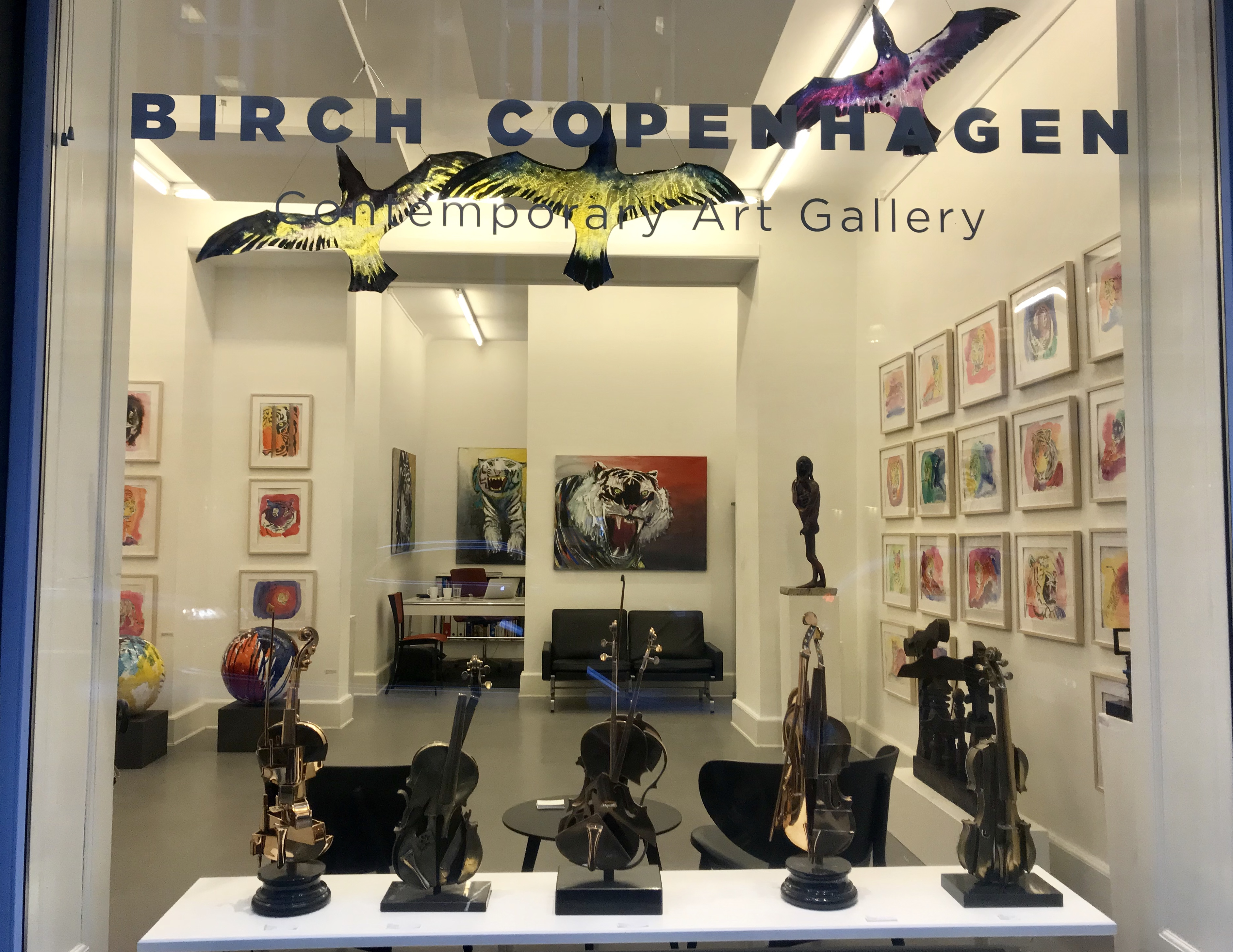 Birchgalerie, one man show, exhibition, tugere, watercolors