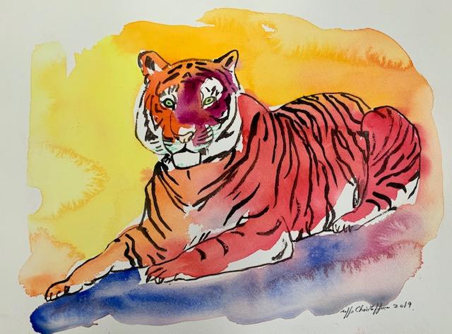 Brøl, tiger, akvarel, lydfrekvens,