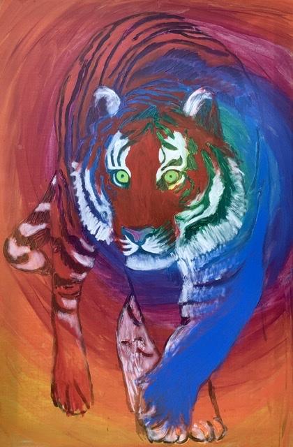Hantigers territorium. Tigermaleri af Uffe Christoffersen