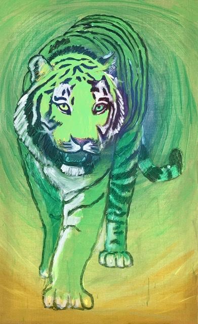 Tiger attack. Tigermaleri af Uffe Christoffersen