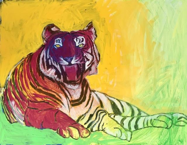 Liggende tiger af Uffe Christoffersen