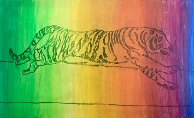 Tiger, fart, elegance