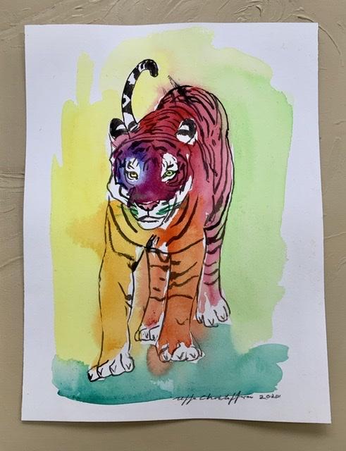 Akvarel. Tigermaleren Uffe Christoffersen, Atelier-Kaiserborgen