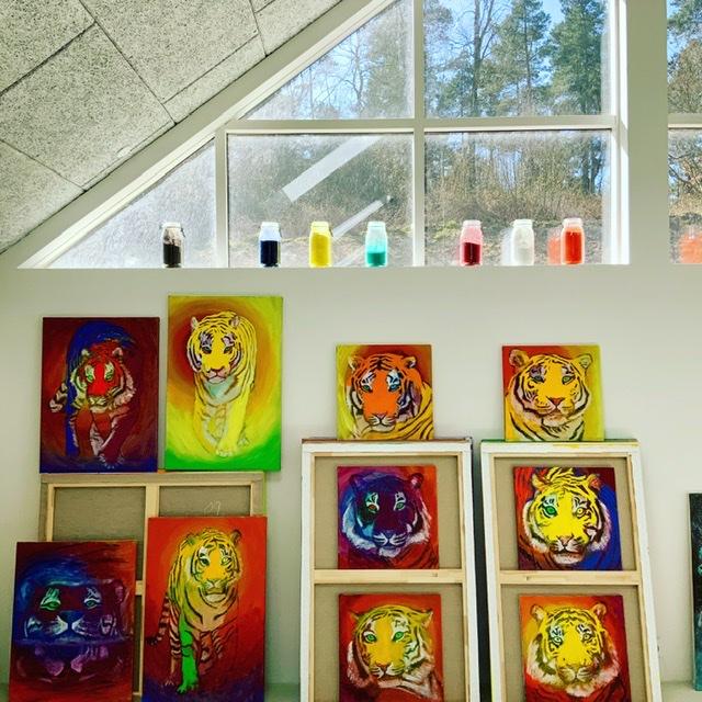 Tigermaleri af Uffe christoffersen