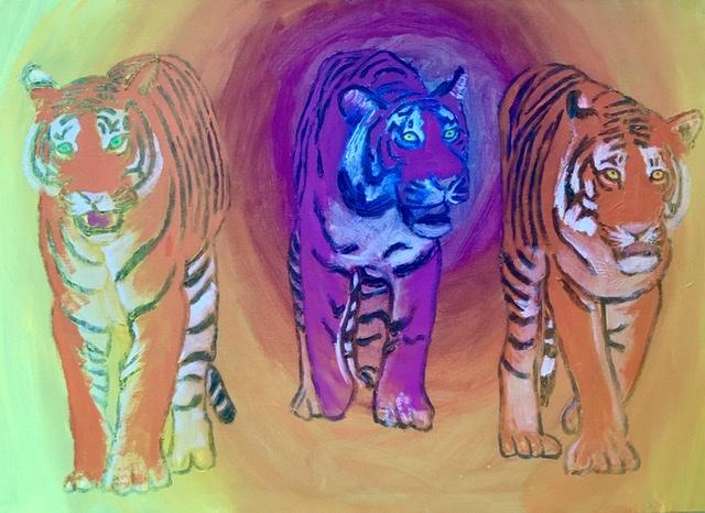 Tigermaleri af Uffe Christoffersen. Atelier-Kaiserborgen
