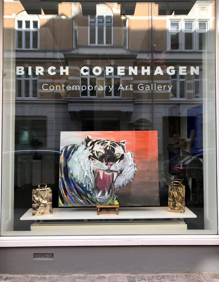 BIRCH COPENHAGEN. Tiger maleri af Uffe Christoffersen