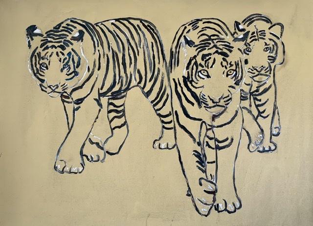 Tigermaleri af Uffe Christoffersen. Kejlstrup, Feldballe