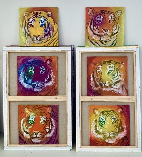 TIGER PORTRAITS. 50X50 cm. Uffe Christoffersen