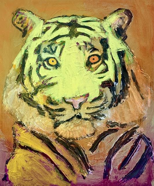 ATELIER-KAISERBORGEN. Tigermaleri af Uffe Christoffersen.