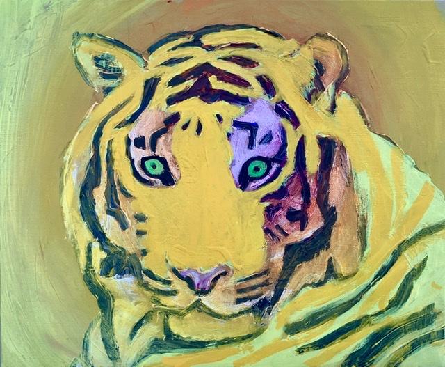ATELIER-KAISERBORGEN. Tigermaleri af Uffe Christoffersen