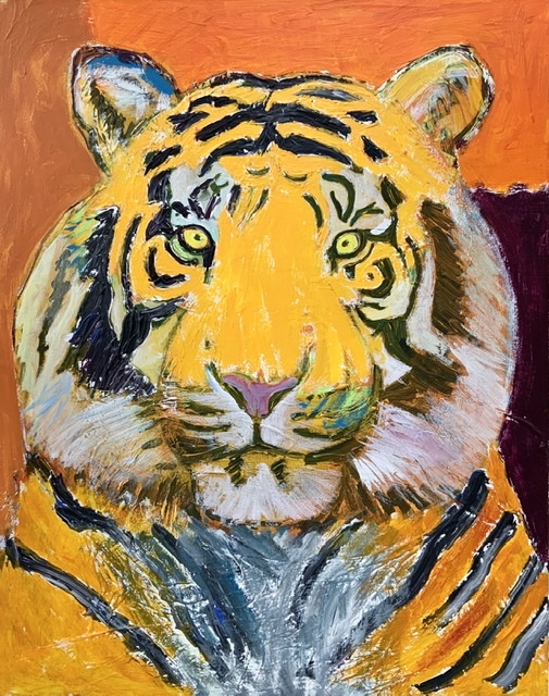 04. ORANGE TIGER IV. - 92x73 cm. 2020. Uffe Christoffersen. Atelier-Kaiserborgen.