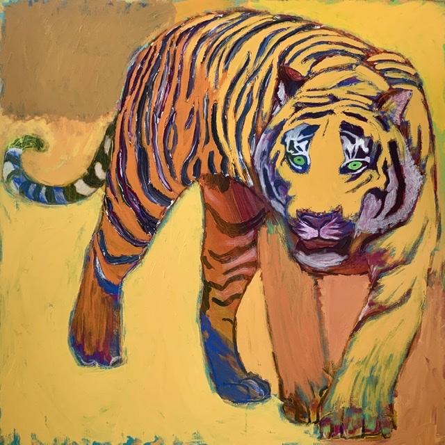Tigerhale. - 114x114 cm. 2020