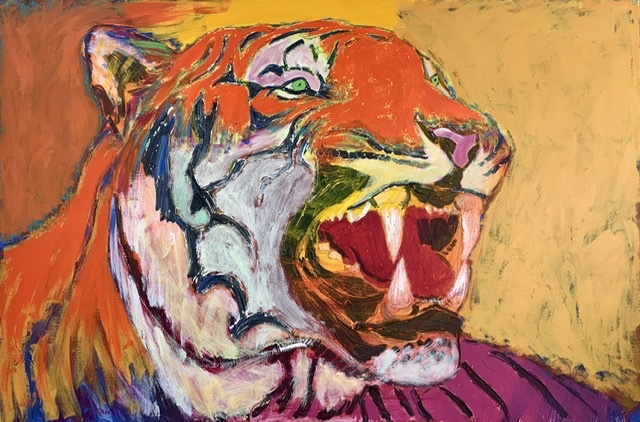 TIGER TEETH. 86x130 cm. 2020. Uffe Christoffersen. Atelier-Kaiserborgen.