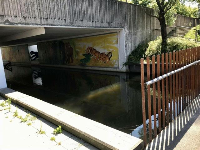 Viadukten - Albertslundvej over Kanalgaden i Albertslund. Uffe Christoffersen