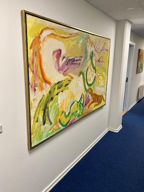 Uffe Christoffersen. Atelier-Kaiserborgen. Maleri 1990