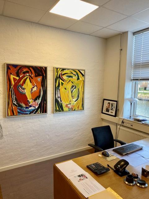 Uffe Christoffersen. Atelier-Kaiseborgen. Maleri