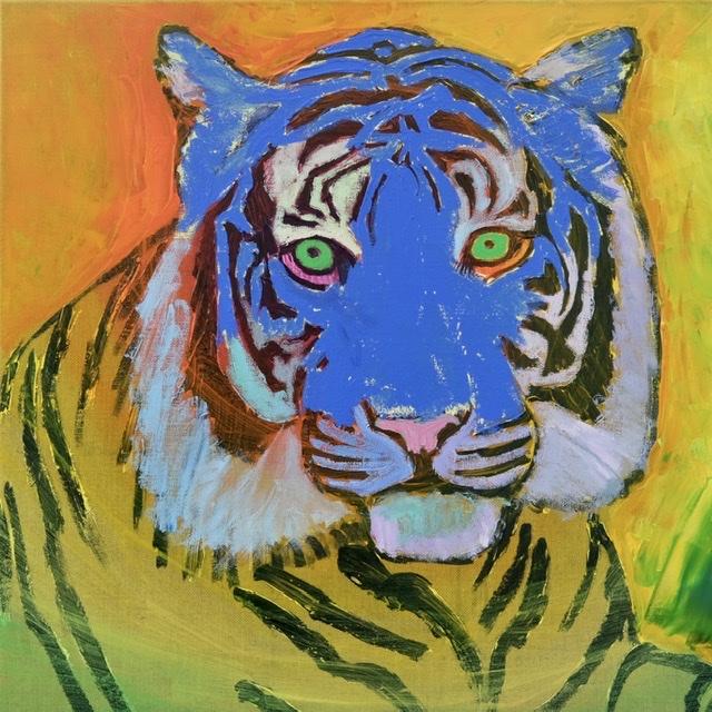 Uffe Christoffersen. Atelier-Kaiserborgen. Tigermaleri