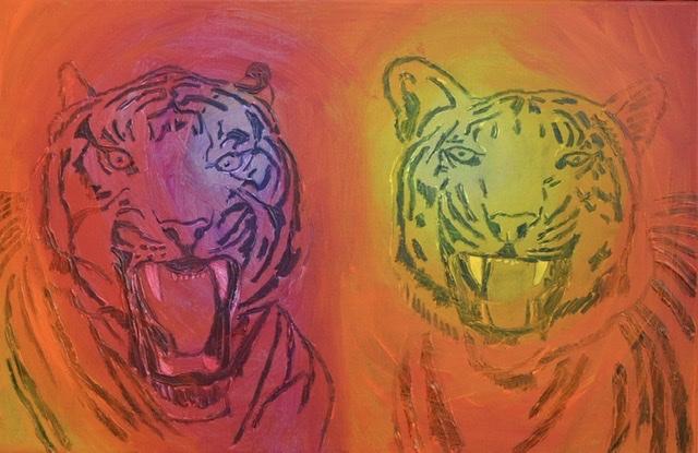 Uffe Christoffersen. Atelier-Kaiserborgen. Tigermaleri.