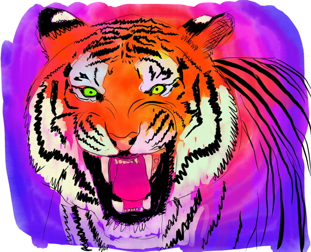 Uffe Christoffersen. E. LAUGHING TIGER. Digital Art
