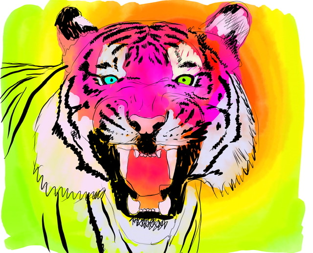 Uffe Christoffersen. D. LAUGHING TIGER. Digital Art