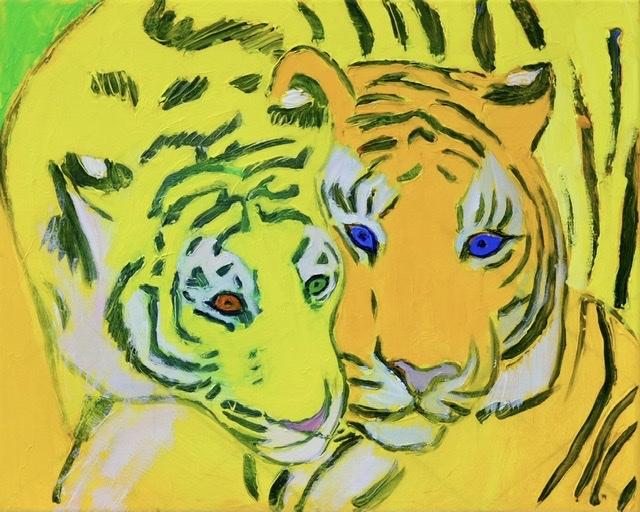 Uffechristoffersen, Atelierkaiserborgen, Tigermaleri