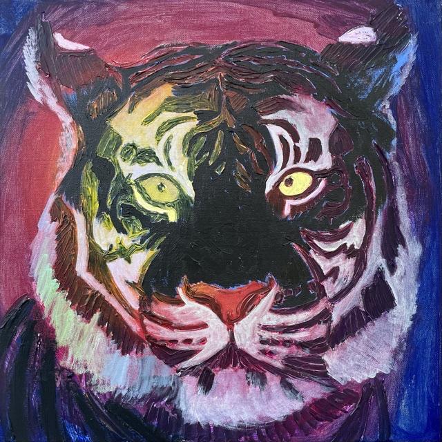Uffe Christoffersen. Atelier-kaiserborgen. 08. Vinstok sort tiger. 50x50 cm. 2021